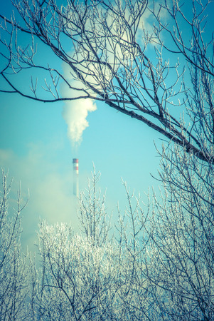 air: Air pollution, Slovakia Stock Photo