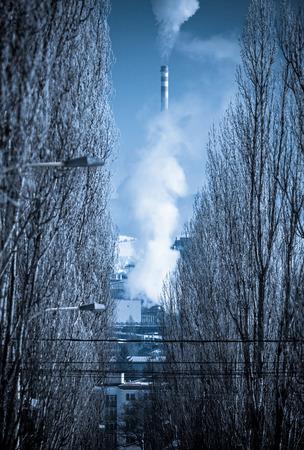 ruzomberok: Air pollution at town Ruzomberok, Slovakia