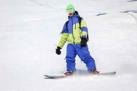 tatras: Snowboarding at Low Tatras, Slovakia Stock Photo