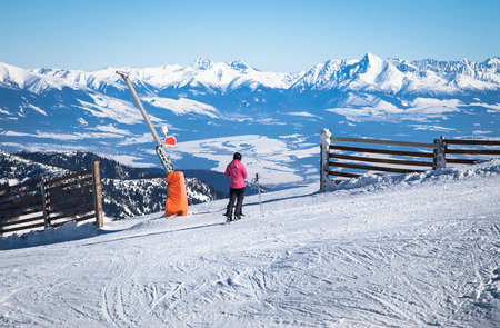 Skiing at Low Tatras, Slovakia