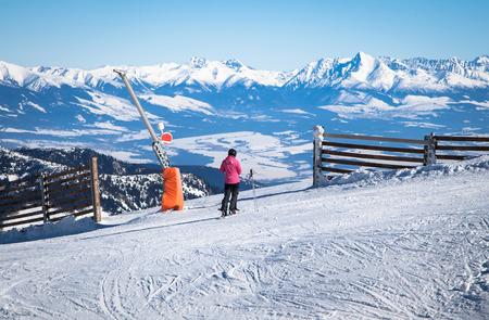 Skiing at Low Tatras, Slovakia