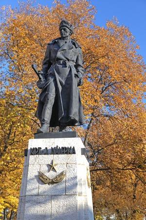 nova: Statue in Spisska Nova Ves, Slovakia Stock Photo