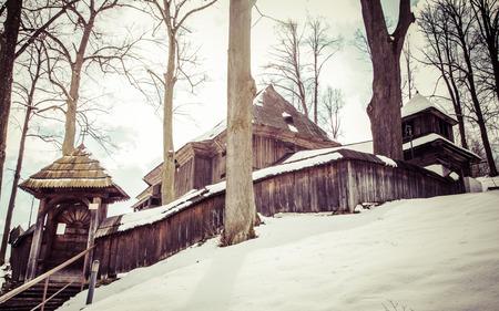 slovakia: Wooden church at Lestiny, Slovakia