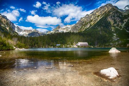 tatras tatry: Tarn Popradske pleso in High Tatras, Slovakia