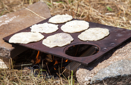 mediaeval: Doughnut - potato pancake Stock Photo