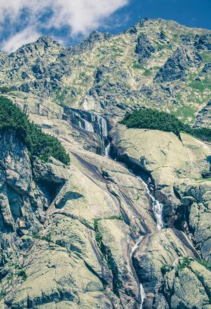 tatras: Waterfall Skok at High Tatras mountains in Slovakia