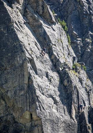 tatras: Climber at High Tatras, Slovakia Stock Photo