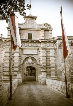 historische: Historische stad Mdina, Malta Stockfoto