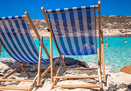 ブルーラグーン - コミノ島、マルタでリラックスします。 写真素材