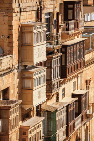typical: Typical building in Valletta, Malta Stock Photo