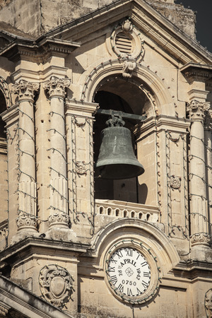 belfry: Belfry in cathedral at Valletta, Malta Stock Photo