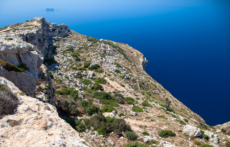 the crags: Reef in Malta island Stock Photo