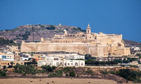 fortification: Fortification Cittadella in city Victoria, Malta Stock Photo
