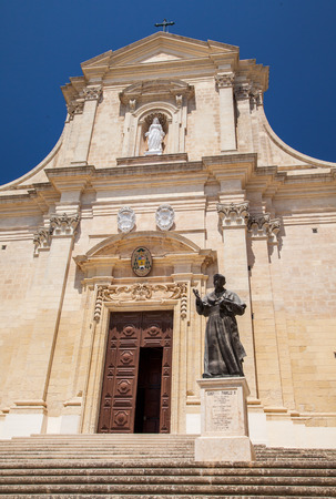 fortification: Cathedral in fortification Cittadella - Victoria, Gozo - Malta Stock Photo