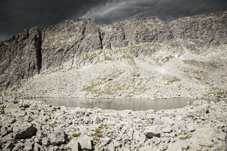 tarn: Tarn - Wahlenbergovo pleso - in High Tatras mountains, Slovakia