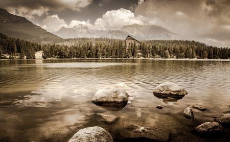 tatras: Tarn Strbske pleso in High Tatras mountains at Slovakia