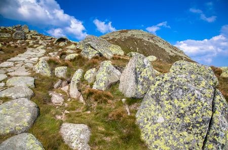 cloudscape: Cloudscape and hill Stock Photo