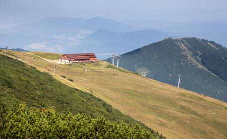 mala fatra: Cableway in range Mala Fatra, Slovakia Stock Photo