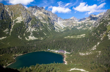 Tarn Popradske pleso in High Tatras mountains, Slovakia