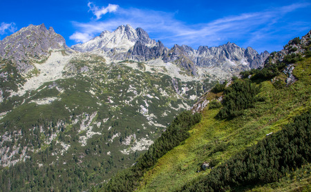 Hill at High Tatras mountains in Slovakia Stock Photo