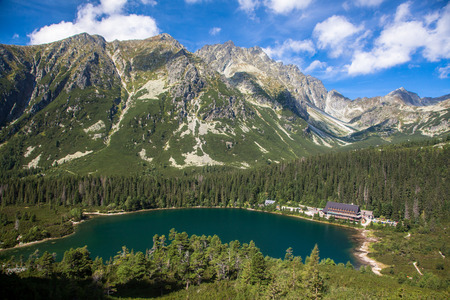 tarn: Tarn Popradske pleso in High Tatras mountains, Slovakia
