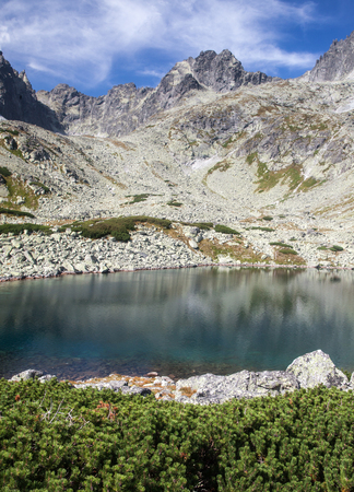 Lake Batizovske pleso in High Tatras mountains, Slovakia Stock Photo