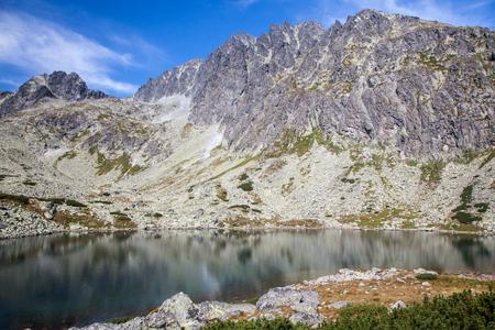 Tarn Batizovske pleso in High Tatras mountains, Slovakia