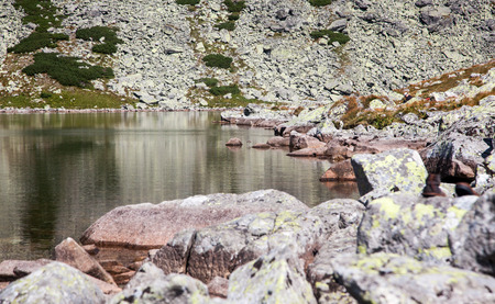 tatras tatry: Tarn Batizovske pleso in High Tatras mountains, Slovakia