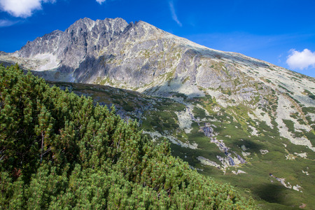 Gerlach peak in High Tatras mountains, Slovakia Stock Photo