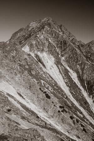 Peak Velke Solisko from hill Predne Solisko, Slovakia Stock Photo