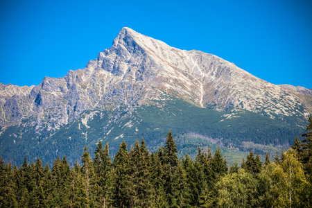 Hill Krivan in High Tatras mountains, Slovakia Banque d'images