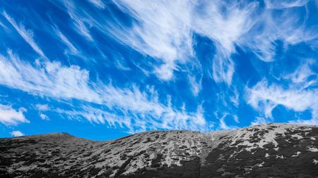 cloudscape: Cloudscape and landscape in Low Tatras, Slovakia