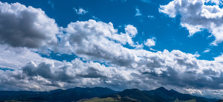 panoramatic: Beautiful cloudscape on the sky