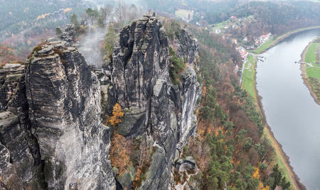 saxon: Bastei - Saxon Switzerland and Elbe river, Germany
