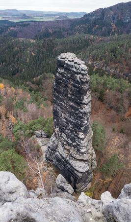 rock formation: Rock formation in Bohemian Switzerland