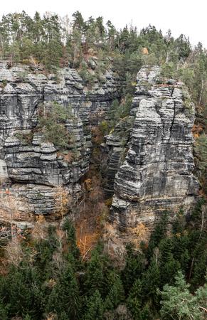 czech switzerland: Stone formation at Czech switzerland Archivio Fotografico