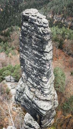 ceske: Stone formation at Czech switzerland Stock Photo
