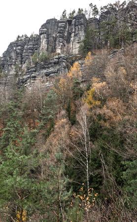 ceske: Rock formation in Bohemian Switzerland