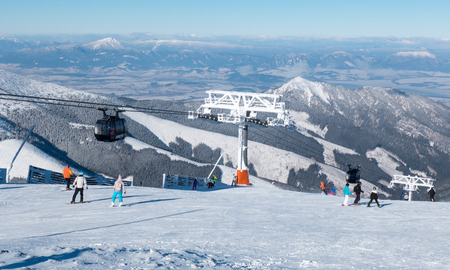 JASNA, SLOVAKIA - JANUARY 22: Ski resort Jasna - Low Tatras mountains on January 22, 2016 in Jasna