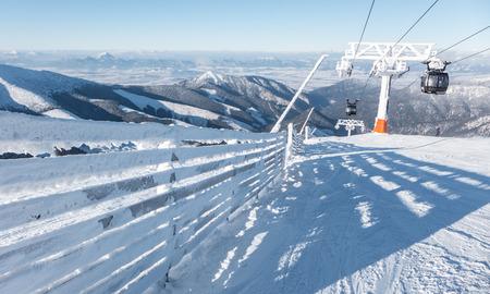 tatras: Cableway Funitel on hill Chopok in Low Tatras, Slovakia