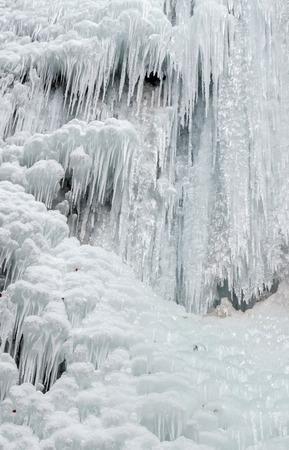 icefall: Icefall - frozen Brankovsky waterfall, Slovakia