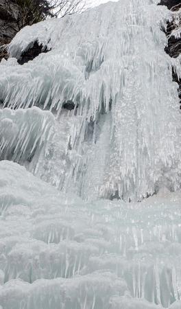 slovakia: Icefall - frozen Brankovsky waterfall, Slovakia