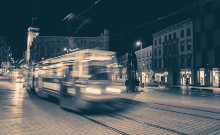 tramway: Tramway in city, Brno - Czech republic