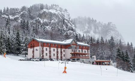 liptov: Hotel in ski resort Malino Brdo at Slovakia Editorial