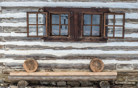 openair: Wooden cottages in open-air musem at Zuberec, Slovakia