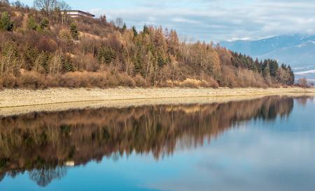 the mara: Mirror reflection at reservoir Liptovska Mara, Slovakia