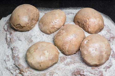 Dinosaur eggs in the nest - fossil Stock Photo
