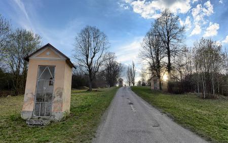 ruzomberok: Calvary in town Ruzomberok, Slovakia