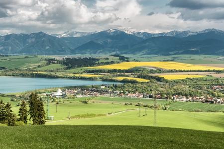 Primavera en la región de Liptov, Eslovaquia Foto de archivo
