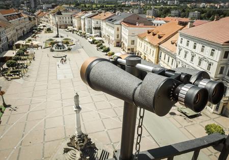 snoop: Binoculars on the building